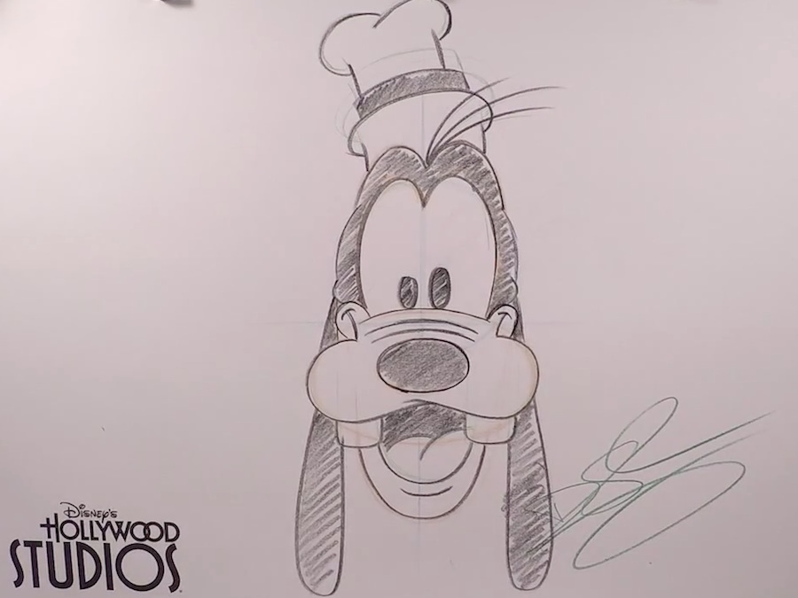 learn to draw mickey�s pal goofy at disney�s hollywood