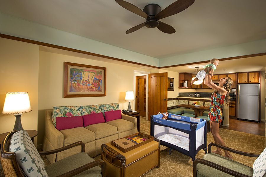 A home away from home at aulani a disney resort spa 2 bedroom villa for 2 bedroom hotels near disney world