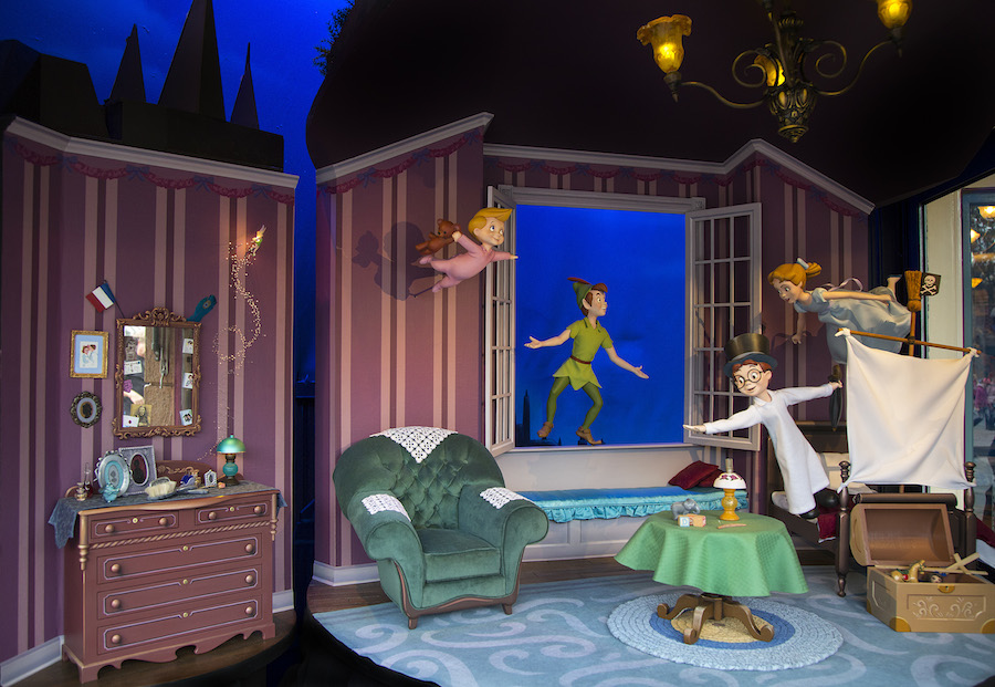 A Closer Look at the New 'Peter Pan' Main Street Enchanted Windows at Disneyland Park