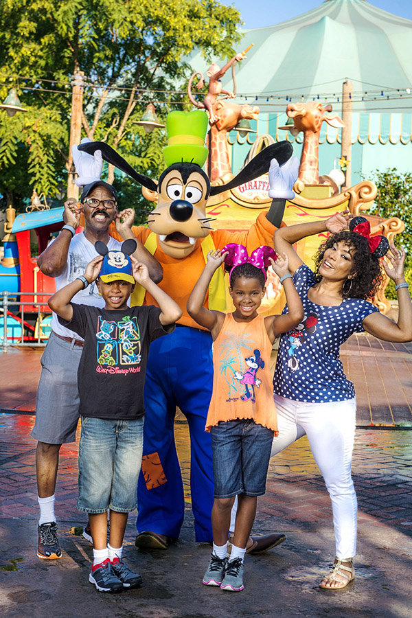 Angela Bassett and Courtney B. Vance visit Disney World in Florida