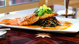 Grilled Blacks Harbour Salmon at Flying Fish Café at Disney's BoardWalk