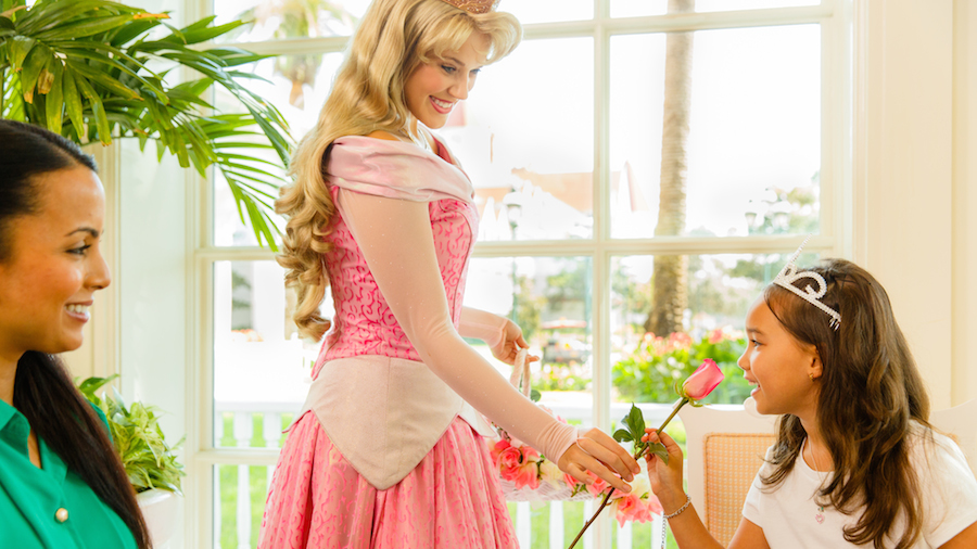 Princess Aurora Meets Guests During My Disney Girl's Perfectly Princess Tea Party at Disney's Grand Floridian Resort & Spa