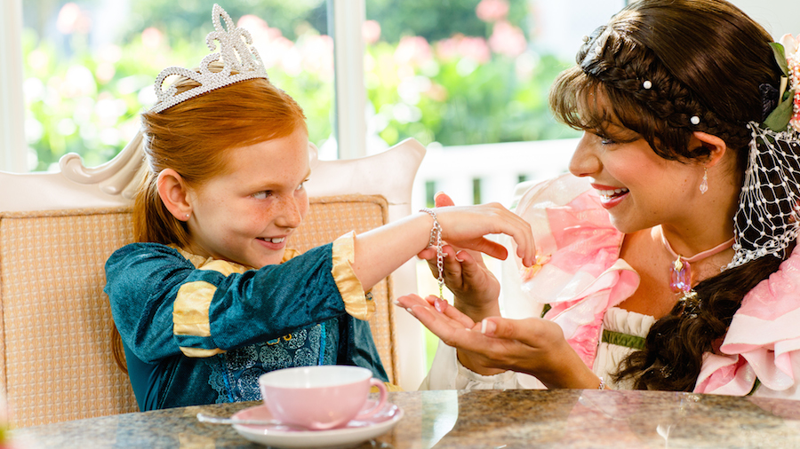 Rose Petal Meets Guests During My Disney Girl's Perfectly Princess Tea Party at Disney's Grand Floridian Resort & Spa