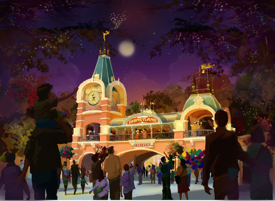 shanghai disneyland themed lands to include new