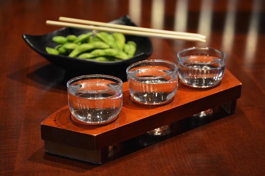 Junmai Sake Flight from Tokyo Dining at Epcot