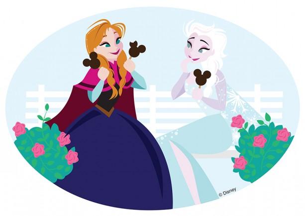 DisneysideDoodleAnnaElsa