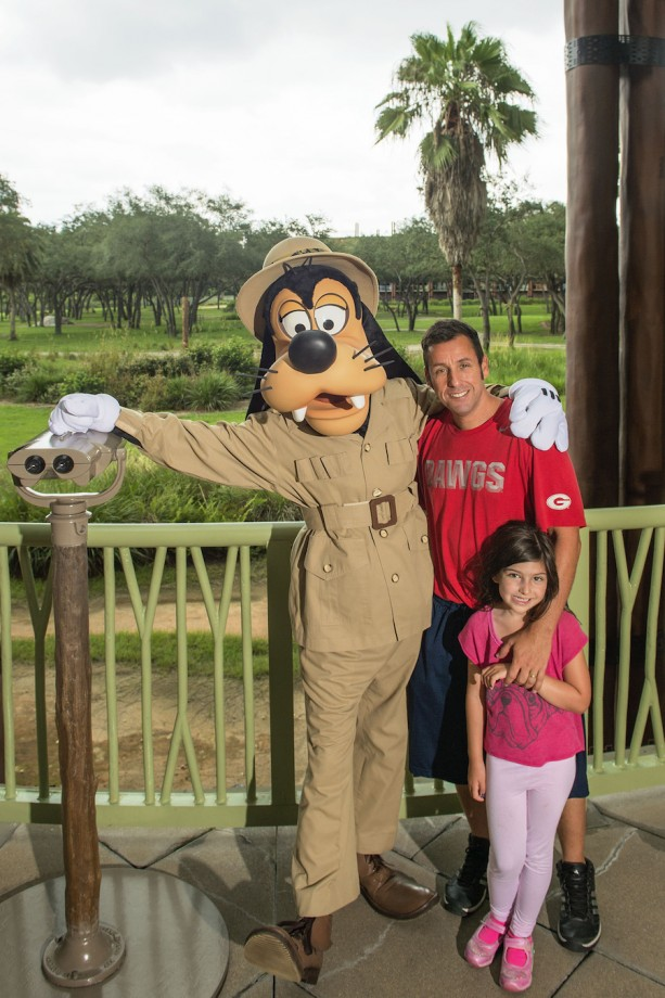 Adam Sandler visits Walt Disney World Resort