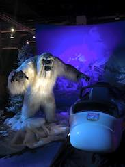 Abominable Snowman and Matterhorn Bobsleds vehicle Seen in the The 'Walt Disney Archives Presents-Disneyland: The Exhibit' At The D23 EXPO