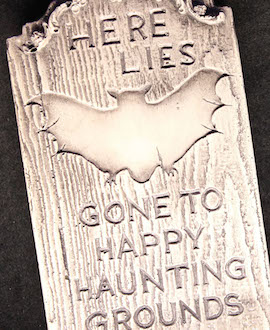 Mini-Tombstones Seen in the The 'Walt Disney Archives Presents-Disneyland: The Exhibit' At The D23 EXPO