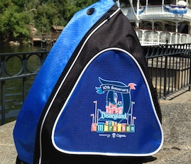 Commemorative 10th Anniversary Sling Bag Celebrating the 10th Anniversary of the Disneyland Half Marathon Weekend