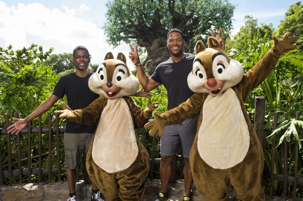 Chris Rock and Michael Strahan visit Walt Disney World Resort