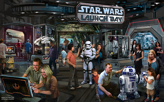 Star Wars Launch Bay Coming to Disneyland Park