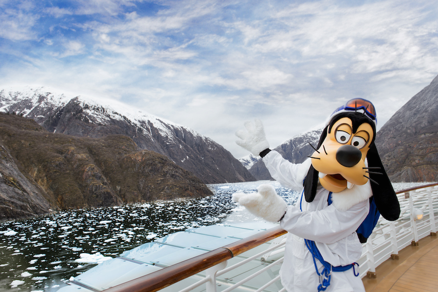 Goofy in Alaska With Disney Cruise Line