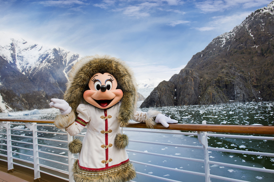 Minnie Mouse in Alaska With Disney Cruise Line