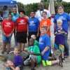 Boys and Girls Club Attendees Pose with a Replica Loggerhead Sea Turtle