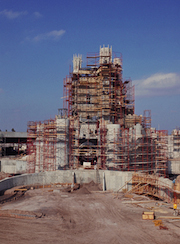 Cinderella Castle Under Construction at Magic Kingdom Park