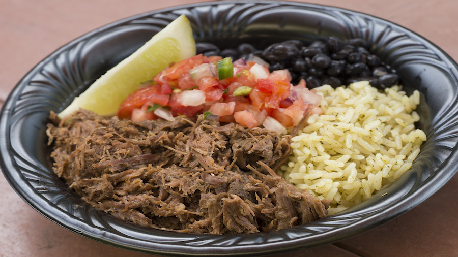 New Beef Rice Bowl from Pecos Bill Tall Tale Inn and Café in Magic Kingdom Park