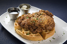 Chicken and Waffles at ESPN Zone at Downtown Disney District at Disneyland Resort