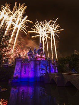 'Disneyland Forever' Fireworks over Sleeping Beauty Castle at Disneyland Park