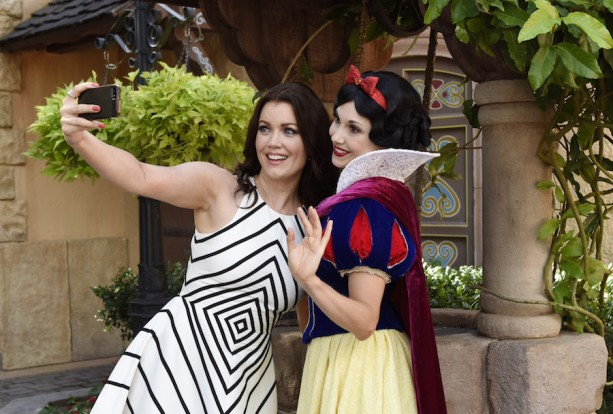 Bellamy Young at Walt Disney World Resort