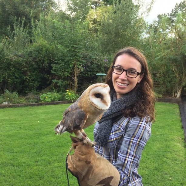 Handling a Dromoland Castle Grounds Owl