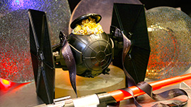 TIE Fighter Premium Popcorn Bucket at Galactic Grill in Disneyland Park