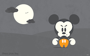 Mickey's Not-So-Scary Halloween Party Wallpaper
