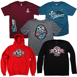 T-Shirts, Long Sleeve Shirts and Hooded Sweatshirts for Disney Wine & Dine Half Marathon Weekend 2015