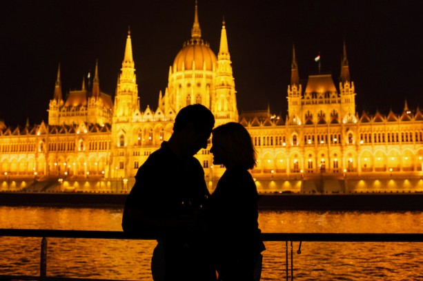 Romantic View of Budapest Along the Danube River