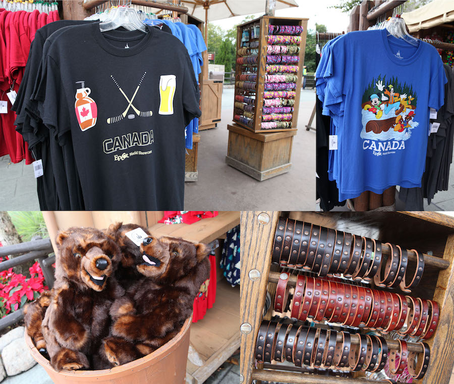 Merchandise from Northwest Mercantile in the Canada Pavilion at Epcot