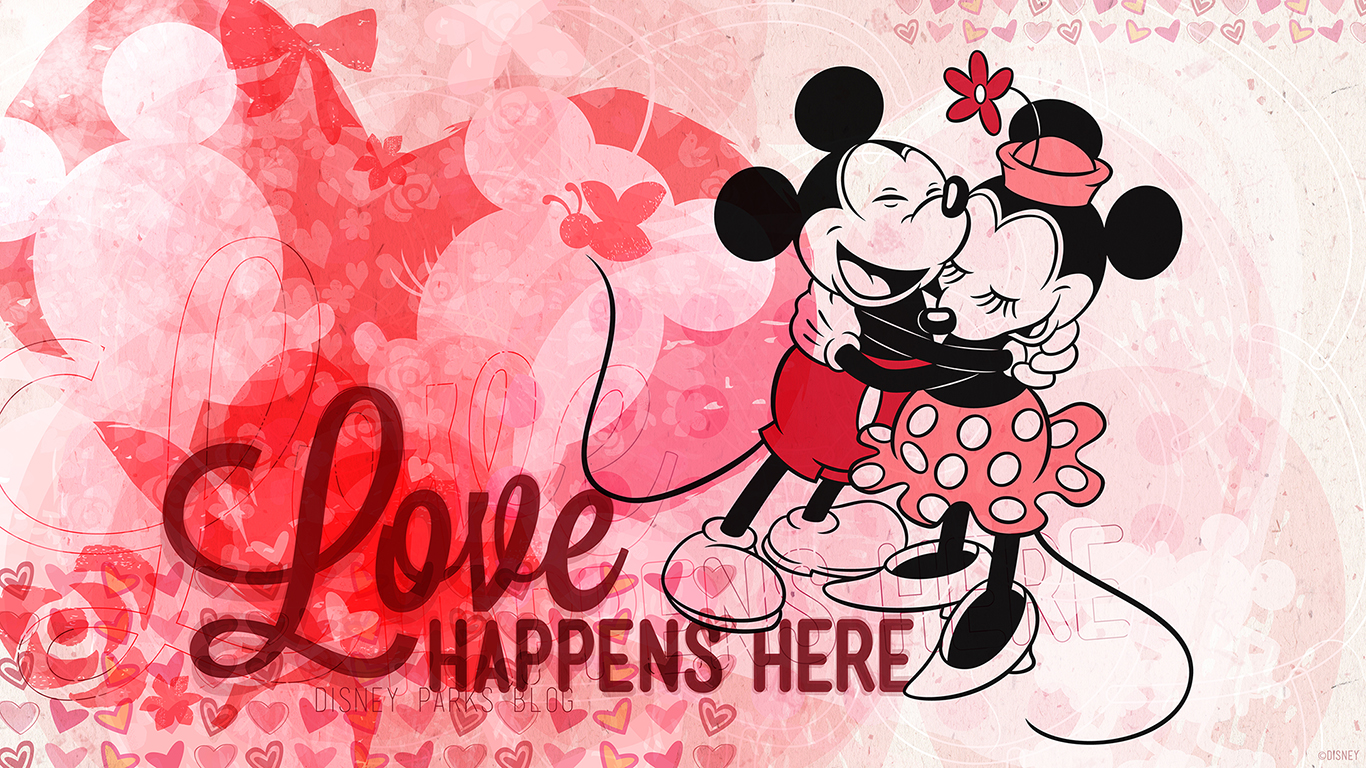 Mickey & Minnie Valentine's Day Wallpaper