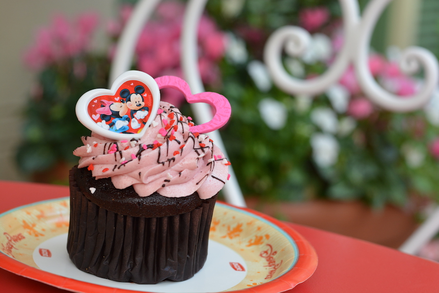 Chocolate Raspberry Cupcake from Main Street Bakery at Magic Kingdom Park