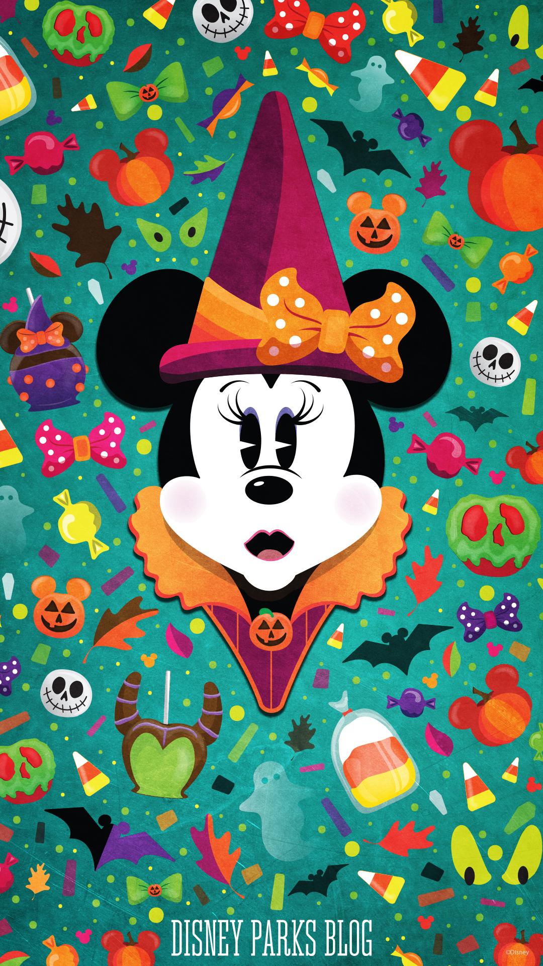 #WonderFALLDisney Halloween Wallpaper - Mobile - Minnie ...