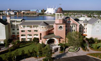 Bird's-eye view of Disney's Saratoga Springs Resort & Spa, a Disney Vacation Club Resort