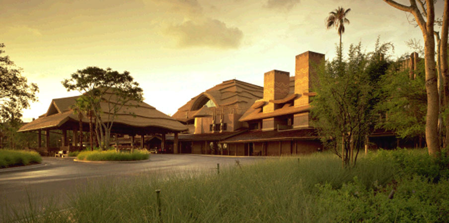 Exterior of Disney's Animal Kingdom Lodge  Jambo House