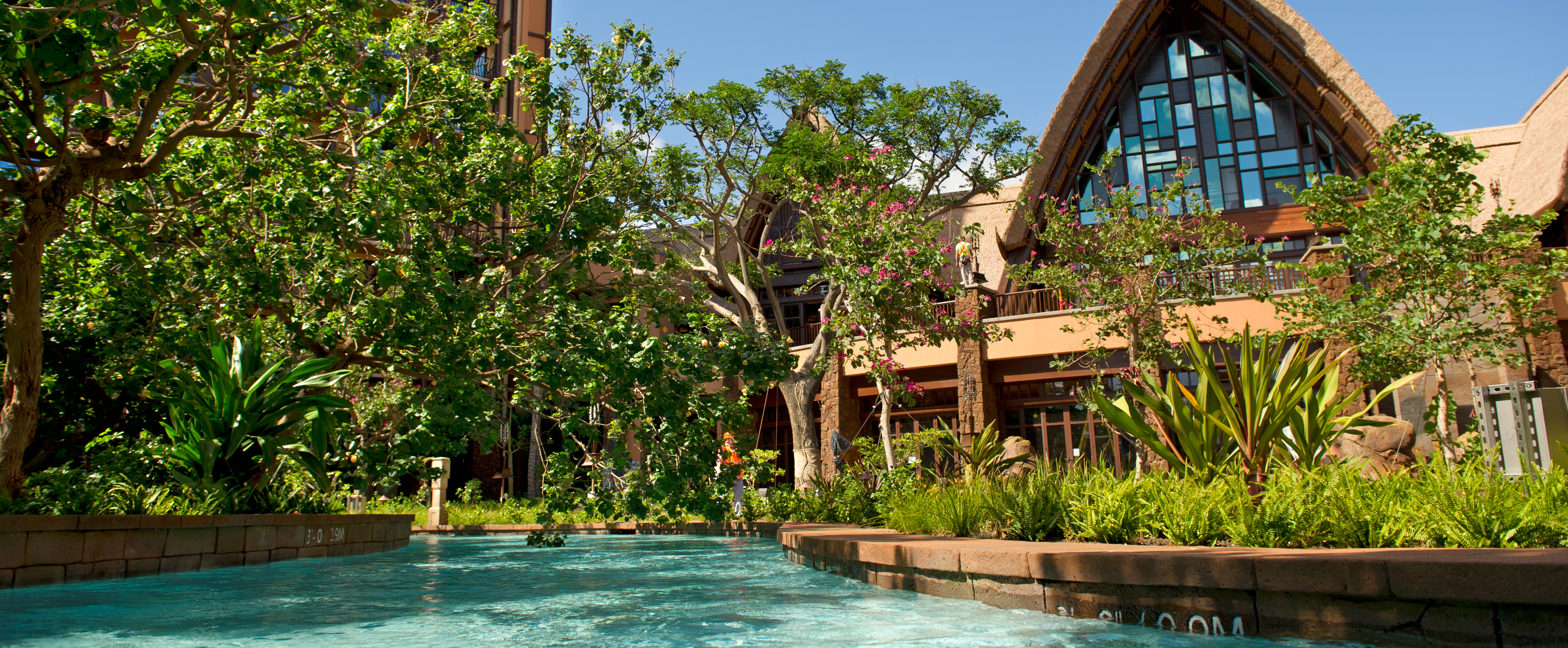 A view of the pool area in front of the Resort