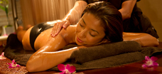 Aulani Woman Getting Massage at Laniwai Spa