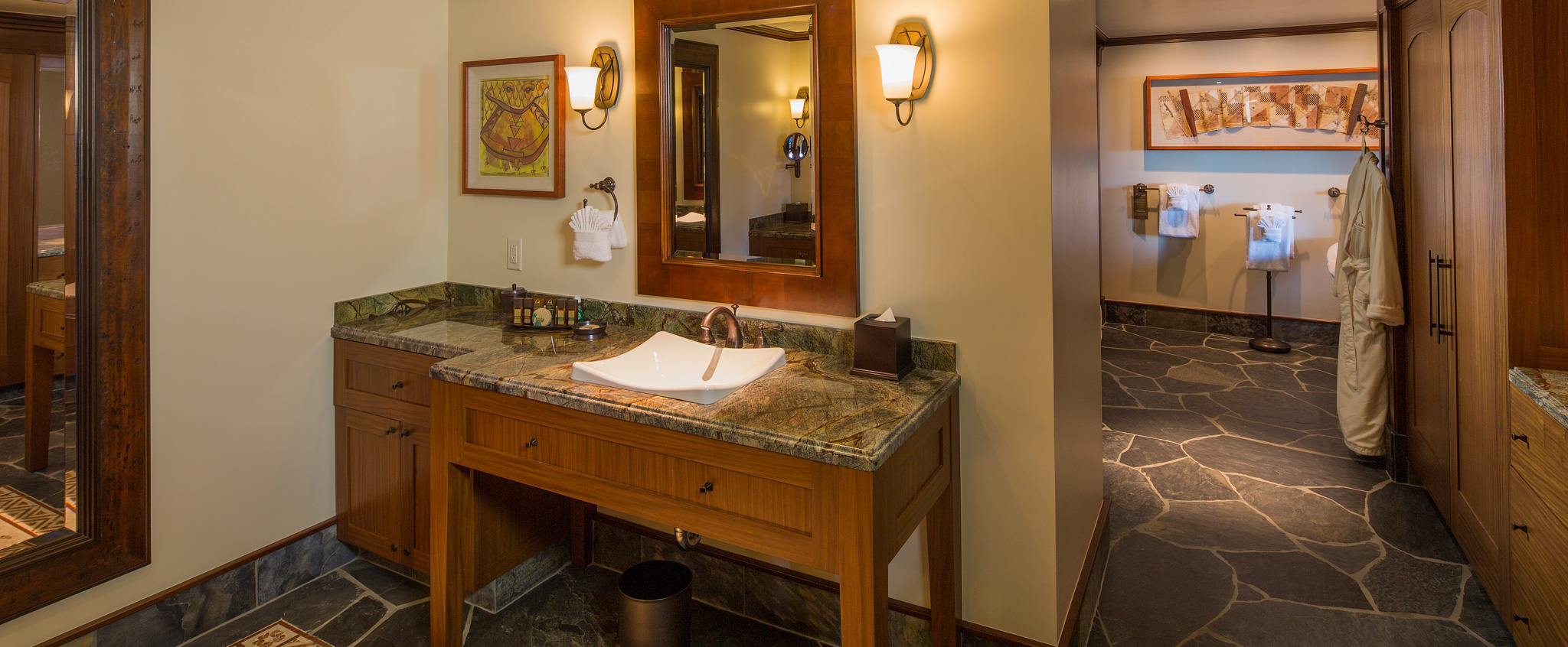 Two Bedroom Suite Aulani Hawaii Resort amp Spa : aulani rooms and offers 2 bedroom suite bathroom sink mirror hero g from resorts.disney.go.com size 2048 x 846 jpeg 568kB