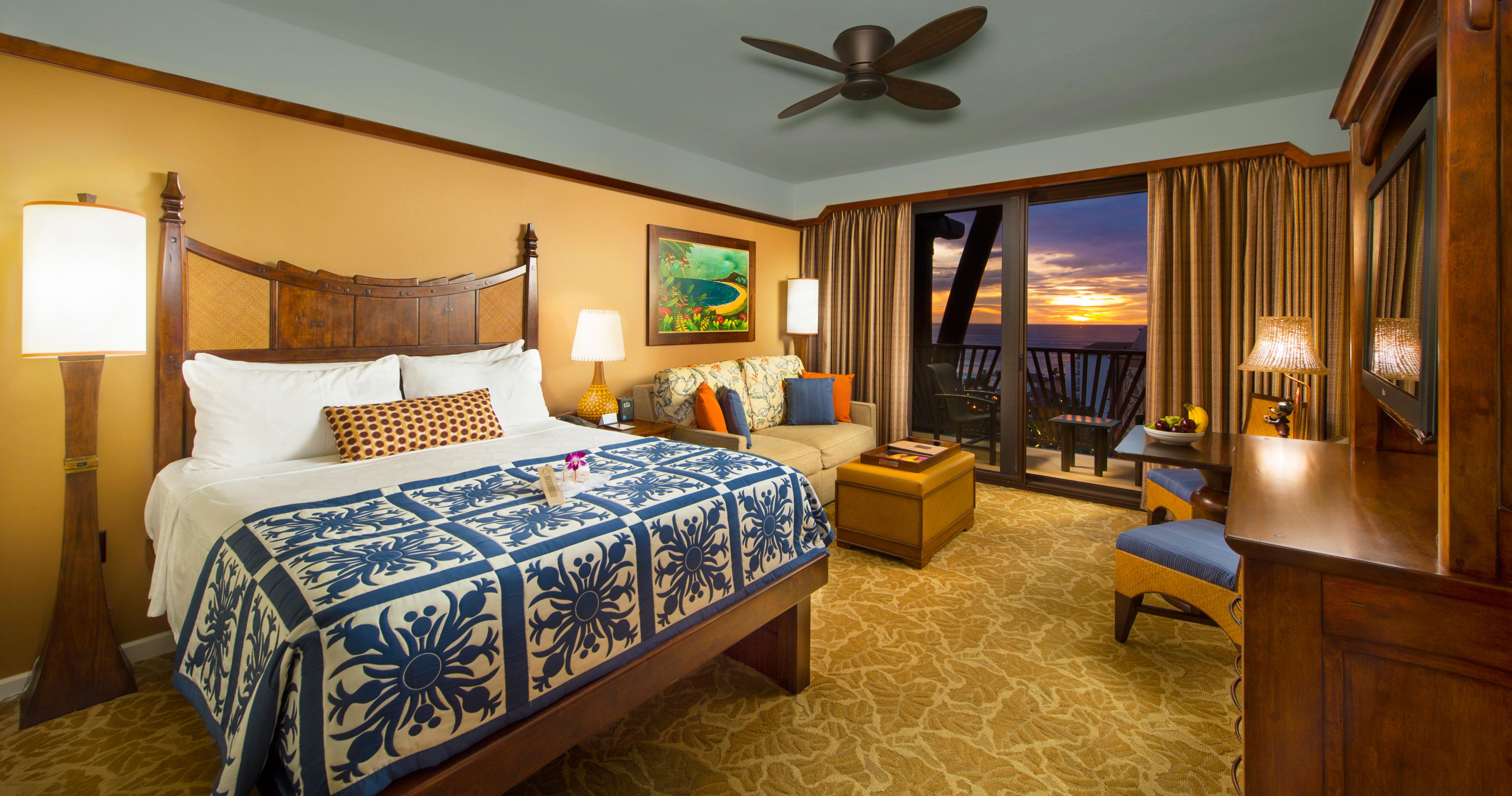 Hawaiian Bedroom Deluxe Studio Rooms Aulani Hawaii Resort Amp Spa