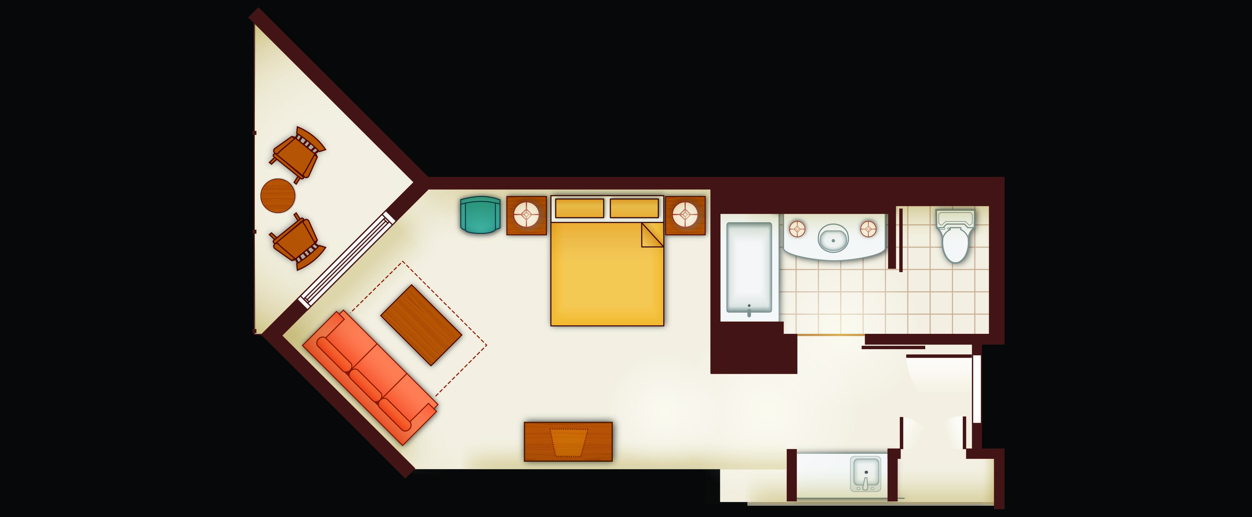 Floor Plan of a Deluxe Studio Villa