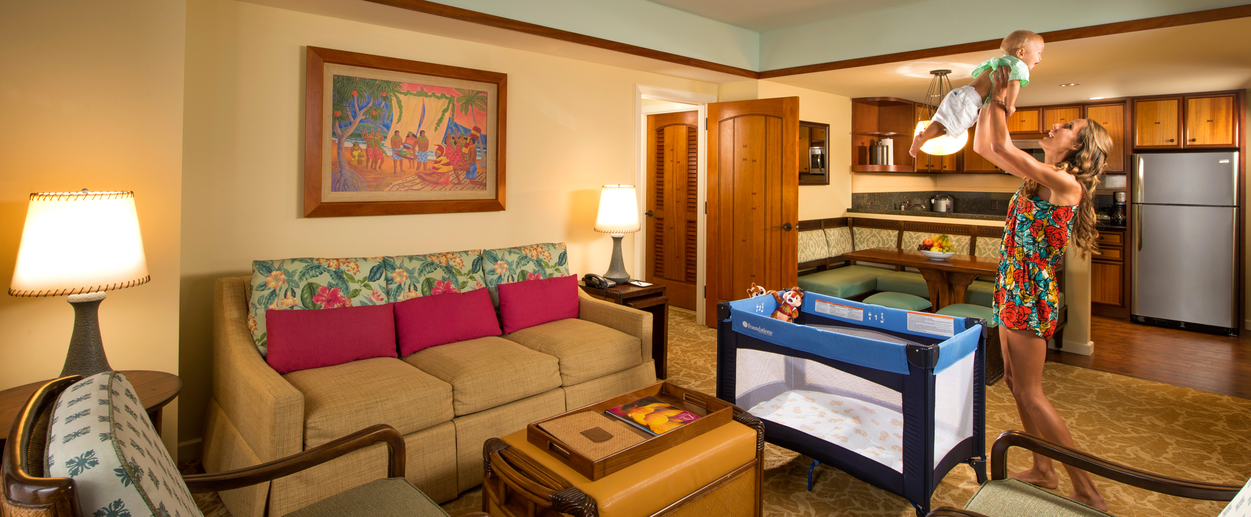 Two bedroom villa aulani hawaii resort spa for 2 living room design